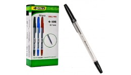 Ручка кулькова 4OFICE 4-106 чорна  0 5мм (50)