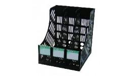 Лоток для паперів 4OFFICE 4-402 вертикальний ЧОРНИЙ на 3 відділення (1)