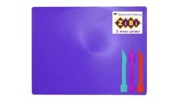 Дошка для пластиліну Zibi 6910-07 +3стека ФІОЛЕТОВА (1)