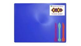 Дошка для пластиліну Zibi 6910-02 +3стека СИНЯ (1)