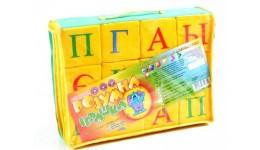 Кубики тканина 12шт Українська абетка  ТМ Розумна іграшка