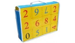 Кубики тканина 12шт Математика  ТМ Розумна іграшка