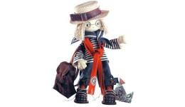 Набір д/шиття текстильної каркасної ляльки 1029  Том  18x45 НС