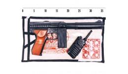 Автомат з пістонами 253 М60 іграшковий з рацією  пакет 34*14 5 см