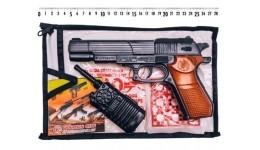 Пістолет з пістонами 252 Б60 іграшковий з гранатою  пакет 24*14 см