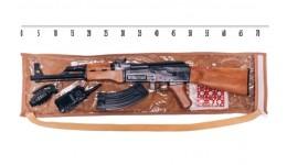 Автомат з пістонами 251 Размі іграшковий 9 з рацією та гранатою  пакет 64*13 см