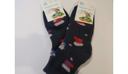 Шкарпетки дитячі р.16-18 сірий бавовна 80% поліестер 15% еластан 5%