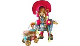 Набір для шиття текстильної каркасної ляльки 1024  Фінська дівчинка  18x45 НС