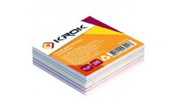 Блок паперу Krok KR-2112 для нотаток мікс клеєний 85х85х300арк  (1/42/4032)