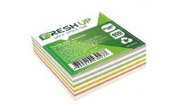 Блок паперу Fresh Up FR-2211 для нотаток мікс не клеєний 85х85х400арк  (1/30/2880)