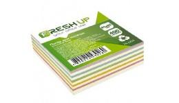 Блок паперу Fresh Up FR-2212 для нотаток мікс клеєний 85х85х400арк  (1/30/2880)