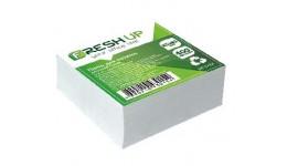 Блок паперу Fresh Up FR-1212 для нотаток білий клеєний 85х85х400арк  (1/30/2880)