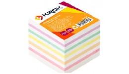 Блок паперу Krok KR-2311 для нотаток мікс не клеєний 90х90х1000арк(1/36/1152)