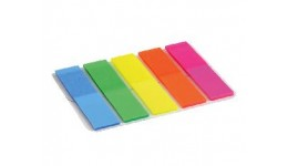 Стікер-закладки AXENT 2440-01 пластик. клейкі 5кол. прямі NEON 12х50мм 125шт (1/12)