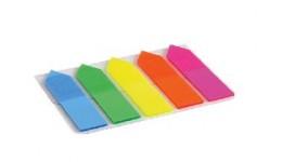Стікер-закладки AXENT 2440-02 пластик. клейкі 5кол. стрілка NEON 12х50мм 125шт (1/12)