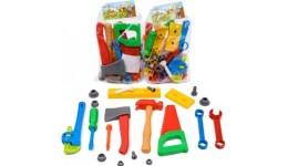 Набір 32-001(2) інструментів Юний Столяр  19 дет. (Кіндер Вей) з молотком