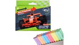 Крейда кольорова YES 400201 кругла 24шт.  Maximum speed  (1/12)