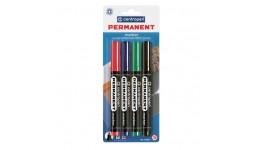 Набір маркерів перманентних Centropen 8566/04 на 4кол. кругл. 1мм CD (1)