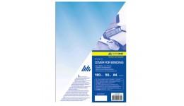 Обкл. д/брошуровання А4 BUROMAX 0560-02 пластик. прозора 180мкм (50шт/уп) СИНЯ