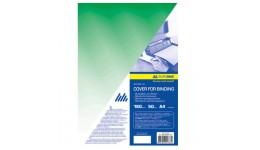 Обкл. д/брошуровання А4 BUROMAX 0560-04 пластик. прозора 180мкм (50шт/уп) ЗЕЛЕНА