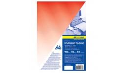 Обкл. д/брошуровання А4 BUROMAX 0560-05 пластик. прозора 180мкм (50шт/уп) ЧЕРВОНА
