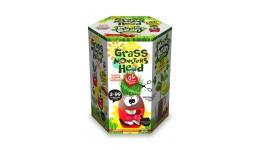 Набір д/пророщування рослини Grass Monsters Head 04 (поливай і спостерігай)+Чарівний Біб(у)(8)Д