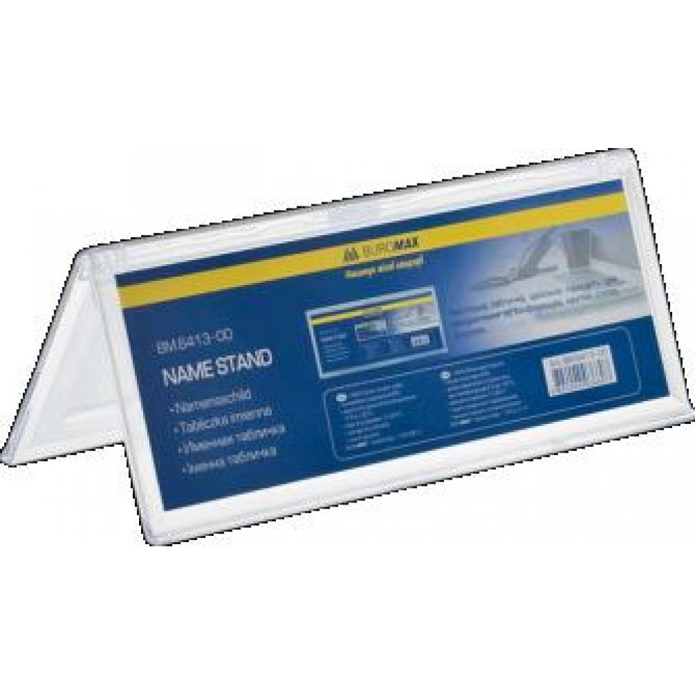 Іменна табличка BUROMAX 6413-00 двостороння  прозора 200*72мм (1)