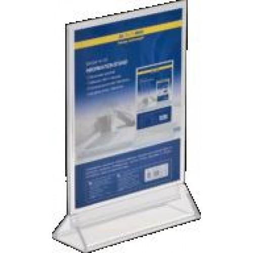 Іменна табличка BUROMAX 6414-00 двостороння  прозора 150*200мм (1)