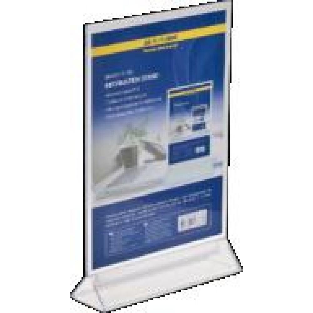 Іменна табличка BUROMAX 6415-00 двостороння  прозора 210*297мм (1)