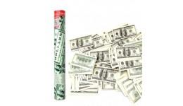 Хлопавка пневматична Dollars - 40 см. MND00040 (сувенірні долари папір  20гр)
