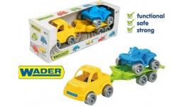 Набір авто  Kid cars Sport  3 ел. (пікап + квадроцикл) в кор.26*9*8см  ТМ Wader