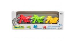 Набір мотоциклів  Kid cars Sport  3 шт. в кор.26*9*8см. ТМ Wader