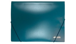 Папка на гумках А4 4OFFICE 4-244-04 зелена 500мкн РР (1/30)