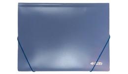 Папка на гумках А4 4OFFICE 4-244-06 синя 500мкн РР (1/30)