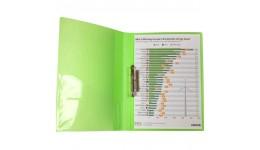 Папка з притиском А4 AXENT 1301-26 прозора зелена (1/20)