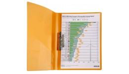 Папка з притиском А4 AXENT 1301-25 прозора помаранч (1/20)