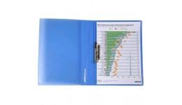 Папка з притиском А4 AXENT 1301-22 прозора синя (1/20)
