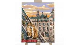 Картина за номерами 40см*50см економ № 6   ДТ(1/10)  Коти на даху