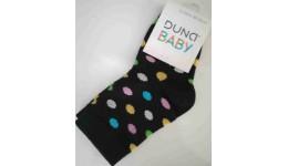 Дитячі шкарпетки DUNA 474 демі  10-12 чорні 75%бавовна  23%поліамід  2%еластан