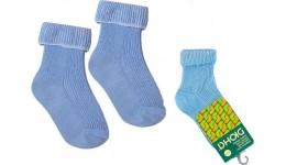 Дитячі шкарпетки DUNA 401 демі  10-12 блакитні  70%бавовна  28%поліамід  2%еластан